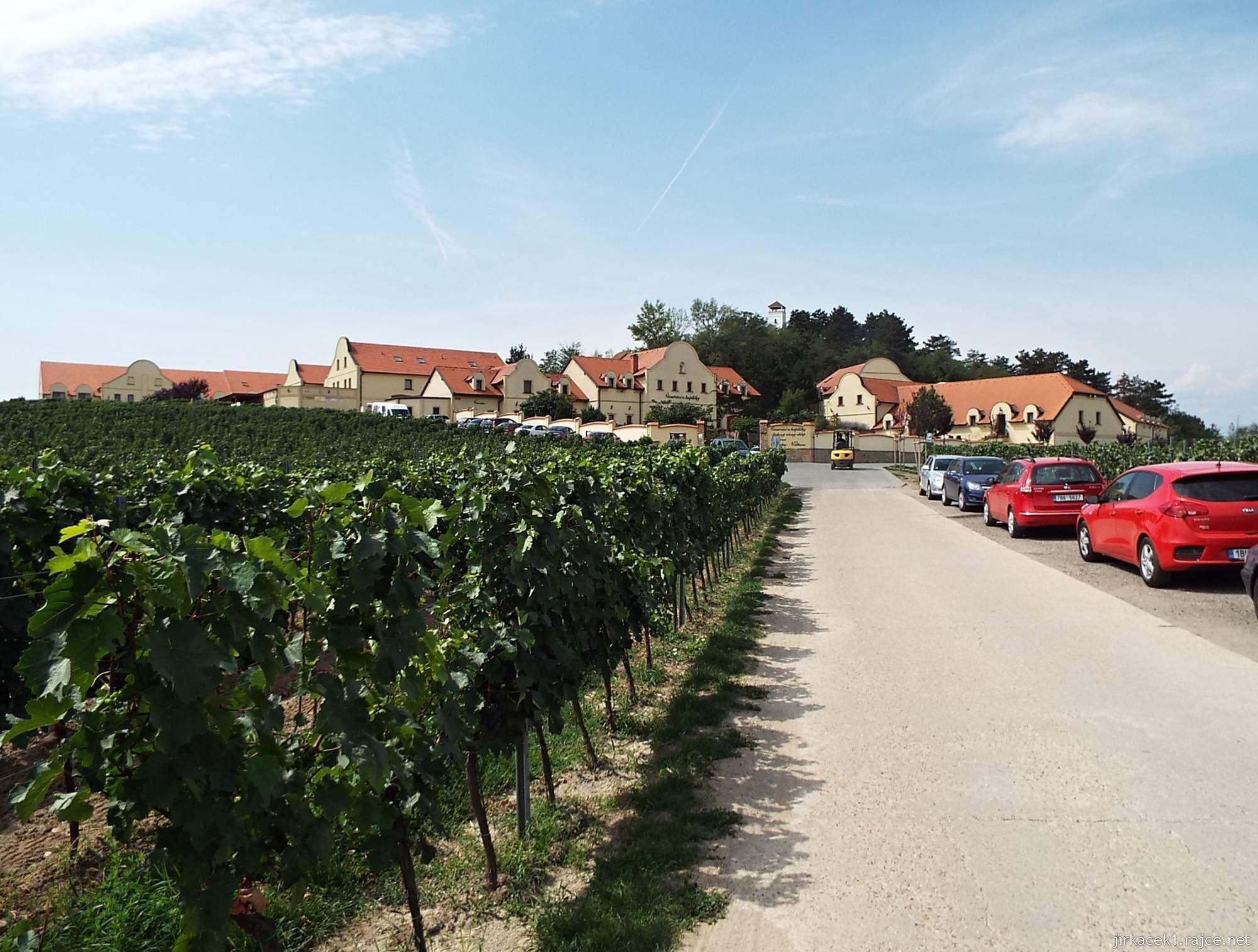 Rozhledna Dalibor u Zaječí a vinařství U kapličky