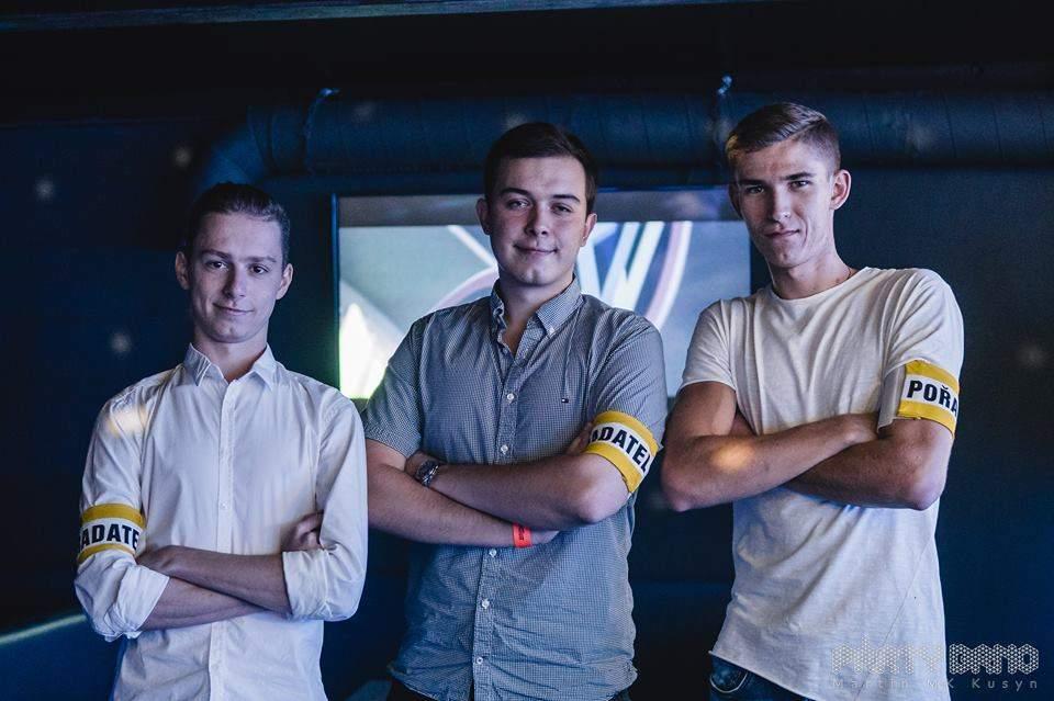 Zakladatelé Party Till We Die. Zleva: Dominik Hálek, Adam Flekal, Petr Beneš. Foto: Martin Kusyn.