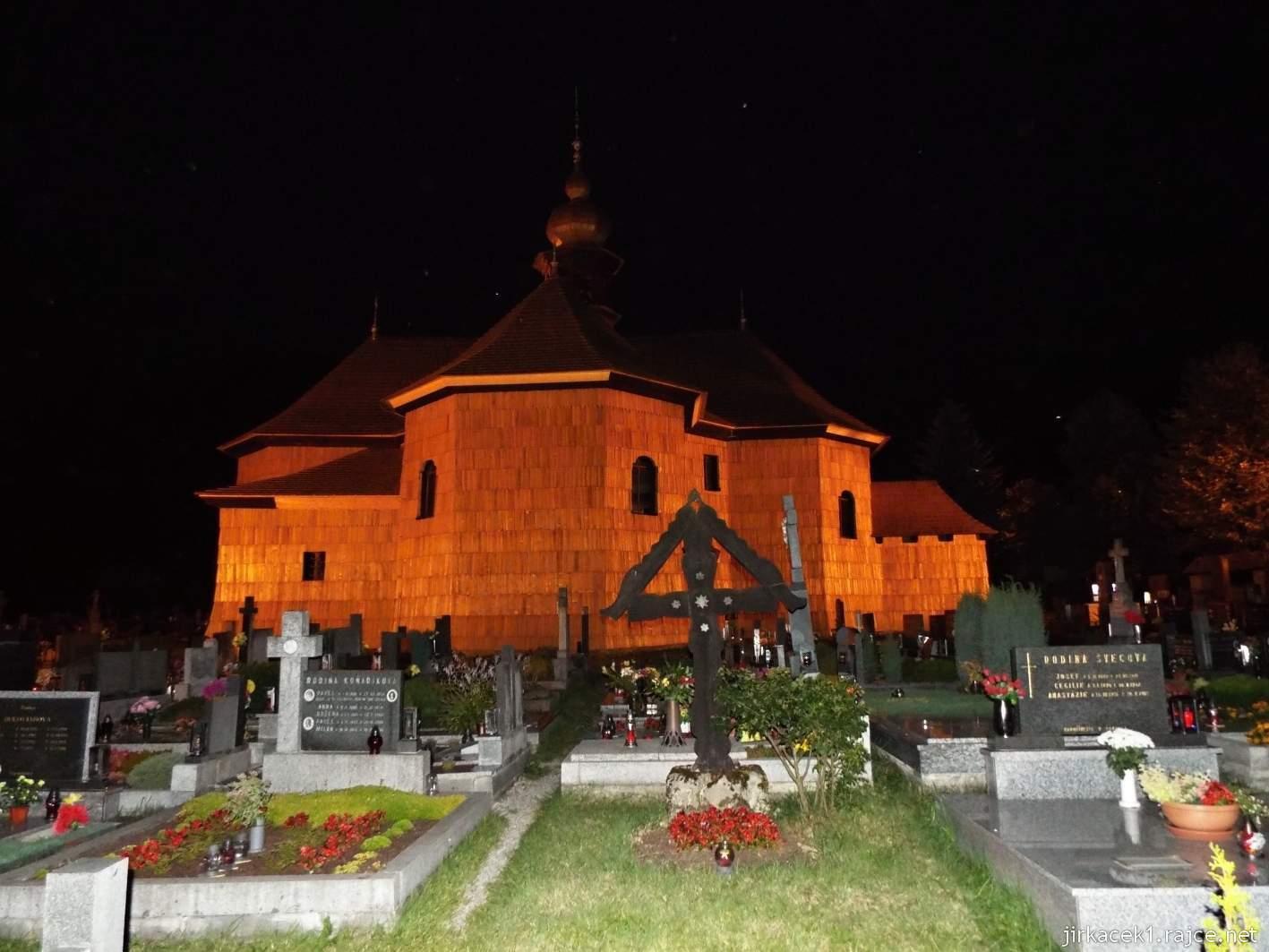 Velké Karlovice - Kostel Panny Marie Sněžné 31 - v noci