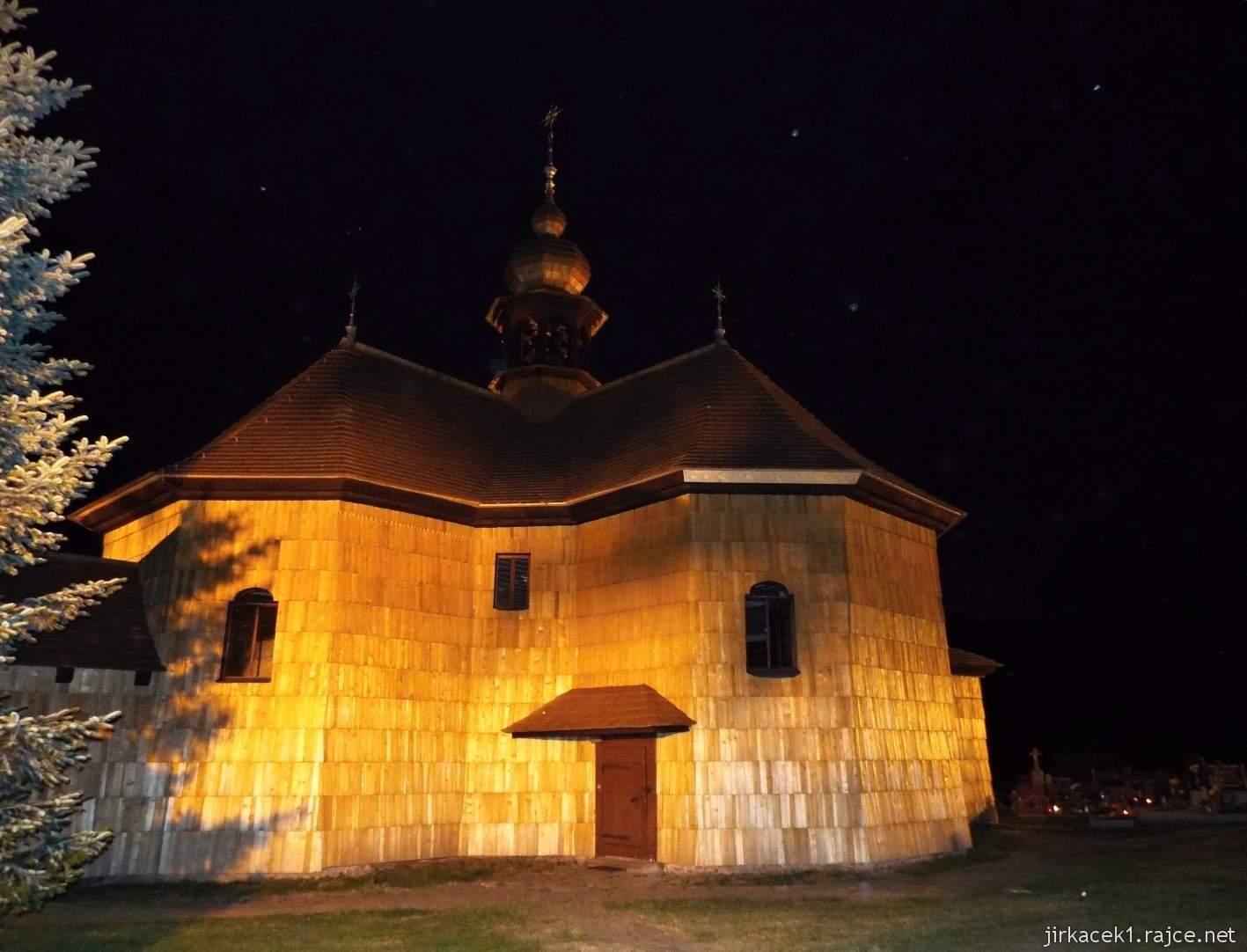 Velké Karlovice - Kostel Panny Marie Sněžné 37 - v noci