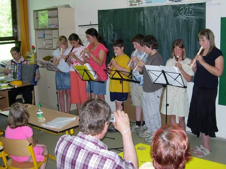 Letní koncert kroužku hry na flétnu