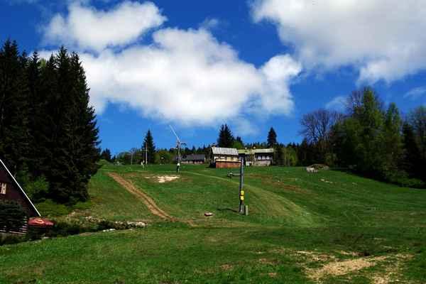 Ski areál Lucifer v Josefově Dole.