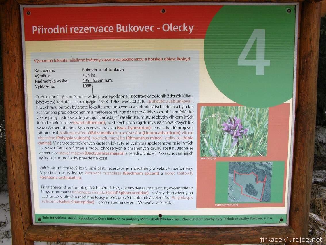 Bukovec - přírodní rezervace a rašeliniště - tabule naučné stezky