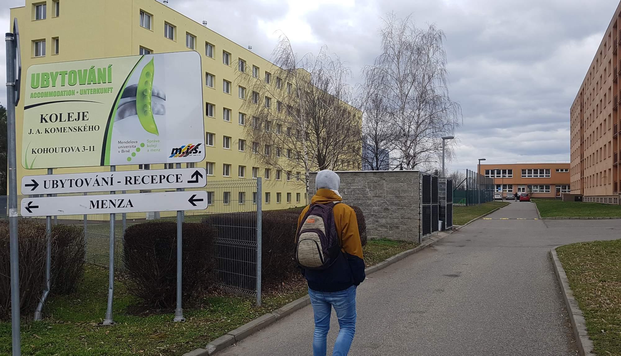 Koleje Mendelovy univerzity na Kohoutové se kompletně rekonstruovaly v roce 2015. Foto: Anežka Horová.