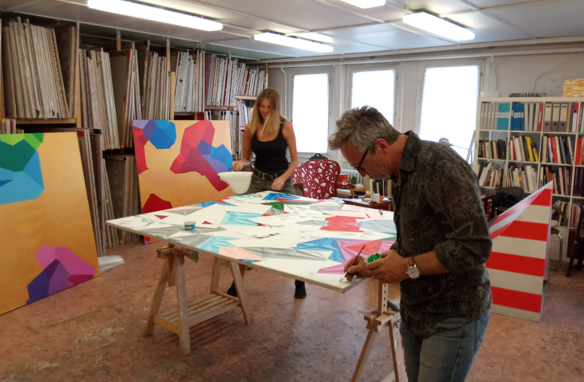Festival Open Studios umožňuje veřejnosti nahlédnout do dvanácti uměleckých ateliérů. Foto: Anežka Horová.